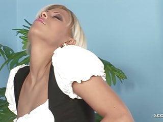 Boss fucks maid Hot maid in stockings seduce to fuck by huge cock boss