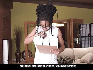 Carrying cocked and locked Submissived - hot ebony queen with locks get rocked and cock