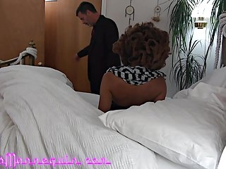 Young bi black men sucking dick Adorable young black chick sucks old mans white dick