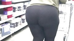 Ebony Phat Bubble Ass in Tights (2) Busted