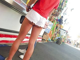 Teen ass shorts vids Voyeur sexy teen ass shorts french 5