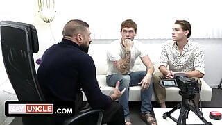 Hot Therapist Cures The Modesty Of Twink Stepbrothers