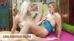 GirlfriendsFilms - Busty MILF Takes It Slow With Teen