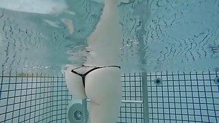 Japanese beautiful girl underwater