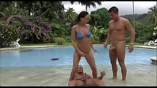 Donna Marie DP'ed in the Pool