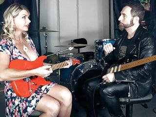Dick taylor guitarist - Funny milf vicky learn guitar from madonnas guitarist