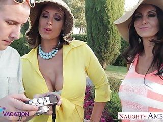 Escort eva Busty wives ava addams and eva notty sharing a large prick