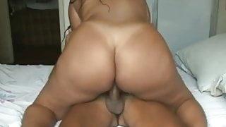 naughty busty Brazilian gf with big ass getting anal fuck