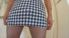Tooth Skirt Black Tights High Heel Black Bra