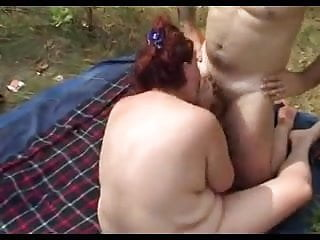 Plumper blowjob Plumper outdoor blowjob