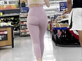 Young teens in panties voyeur Super hot young blonde in see through leggings, no panties