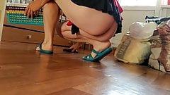 mop the floor no panties 2