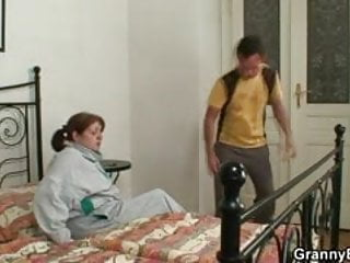 Grannnie nude movies - Injured grannny is healed by young dude
