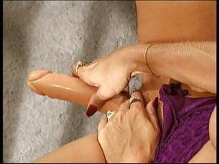 Ugly grandma pussy Horny ugly blonde plays with her pussy then licks her big dildo