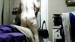 wife changes her granny panties