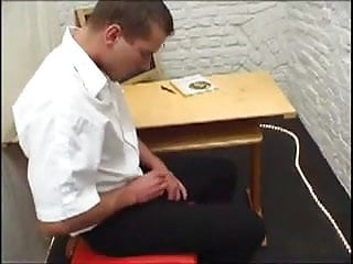 Spanked him Domme puts him in his place