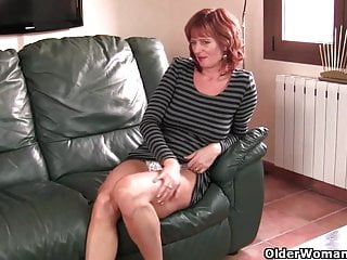 Masturbating milfs ojn video - Redheaded mom plays with her nipples and pussy compilation