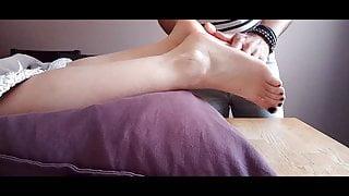 my wife's foot massage