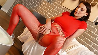 Incredible Pissing From Hot Girl In Body Stocking