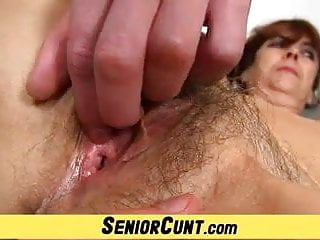 Skinny hairy old granny Hairy old pussy of grandma lada on close-ups