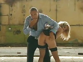 Czech anal victoria - Victoria blonde - dp in a warehouse