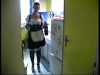 Gay s in uniforms Lea gets fucked by 2 dudes in maid s uniform