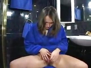 Anal beeds for man penis - Cute hairy girl with anal beeds in her bathroom