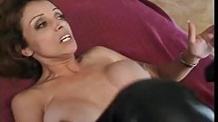 Hot granny in boots taking deep anal