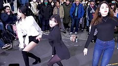 Asian dance show Black pantyhose 5