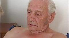 Nursing home grandpa blonde girl