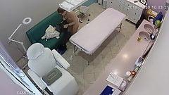 Hidden cameras. Beauty salon, massage mom