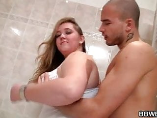 Bbw getting nailed for free - Chubby bitch gets nailed in the bathroom