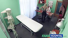 Fake Hospital Blonde patient gives blowjob before fucking