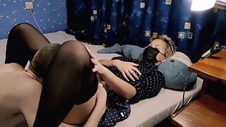 A lecherous pussy is hidden under a neat dress