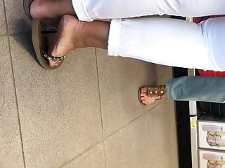 Manicure pedicure hair make up facial - Candid latina mature feet french pedicure close-up part 2