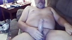 Big Daddy with full balls gets some much needed relief cum