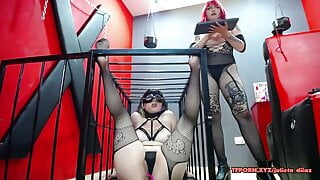 BDSM session of two lesbians