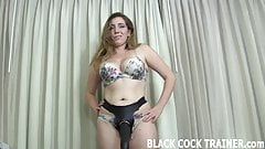 This big strapon dildo will get you ready for a real cock