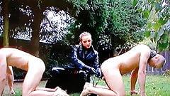 Mistress punish slaves dogs