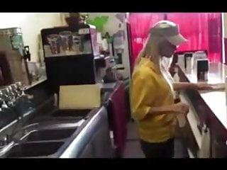 Subway restaurant boobs flash - Employees lock door to restaurant so they can fuck