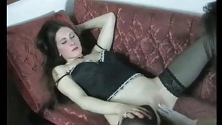 Gentle fisting and sextoy pussy