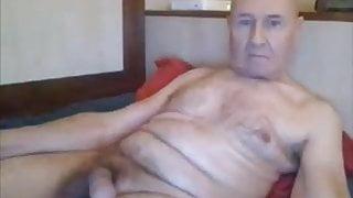 Sexy granpa masturbationg online