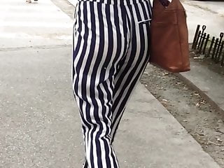Striped ringer tights silky Ssw - s2016e09 - tight teen with jiggly ass in striped pants