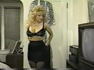 Skirt tranny Danni ashe takes off her bra and skirt showing pantyhose
