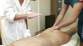 Nice massage with 2 milfs