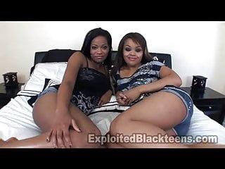 Brandy exploited black teens - 2 ebony teen lesbians in amateur pov threesome