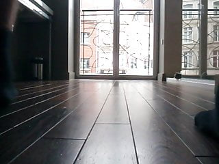 Metal strip at floor between rooms - Me pissing on the living room floor