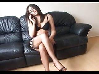 Transvestite fashion tv shoe British lady clair full fashion stockings heels