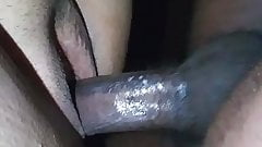 Hitting and cumming in Puerto Rican pussy Doggystyle