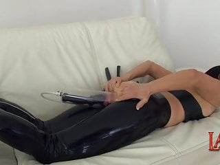 Latex placeholder Anal pumping and ass fucking